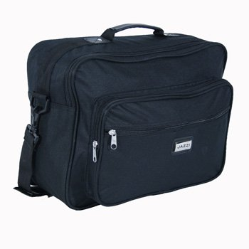 Medium Sized Black Flight Holdall Briefcase Bag with Shoulder strap - Holds A4 Files