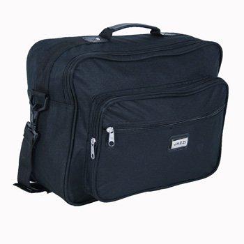 Medium Sized Black Flight Holdall Briefcase Bag with Shoulder strap - Holds A4 Files
