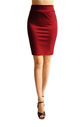 trendzart azules s above the knee pencil skirt