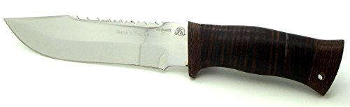 Rosarms Knives Forest Ranger Hunting Knife Part serrated Top of Blade