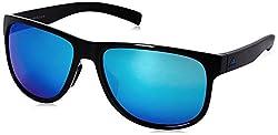 adidas Womens Sprung a429 6060 Round Sunglasses Black Shiny 60 mm