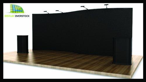 Trade Show Display Pop Up Booth Exhibit - 20' Serpentine - Black Velcro Fabric
