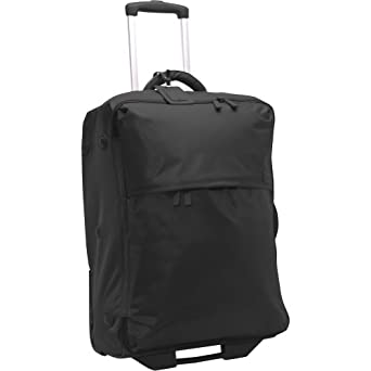 Lipault Paris Foldable 2 Wheeled Carry on Trolly, Black, 26x17x10