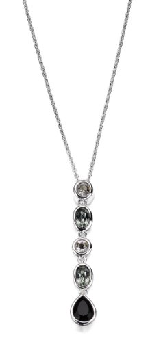 Elements Sterling Silver Ladies' N3296 Swarovski Drop Necklace Length 41+5cm