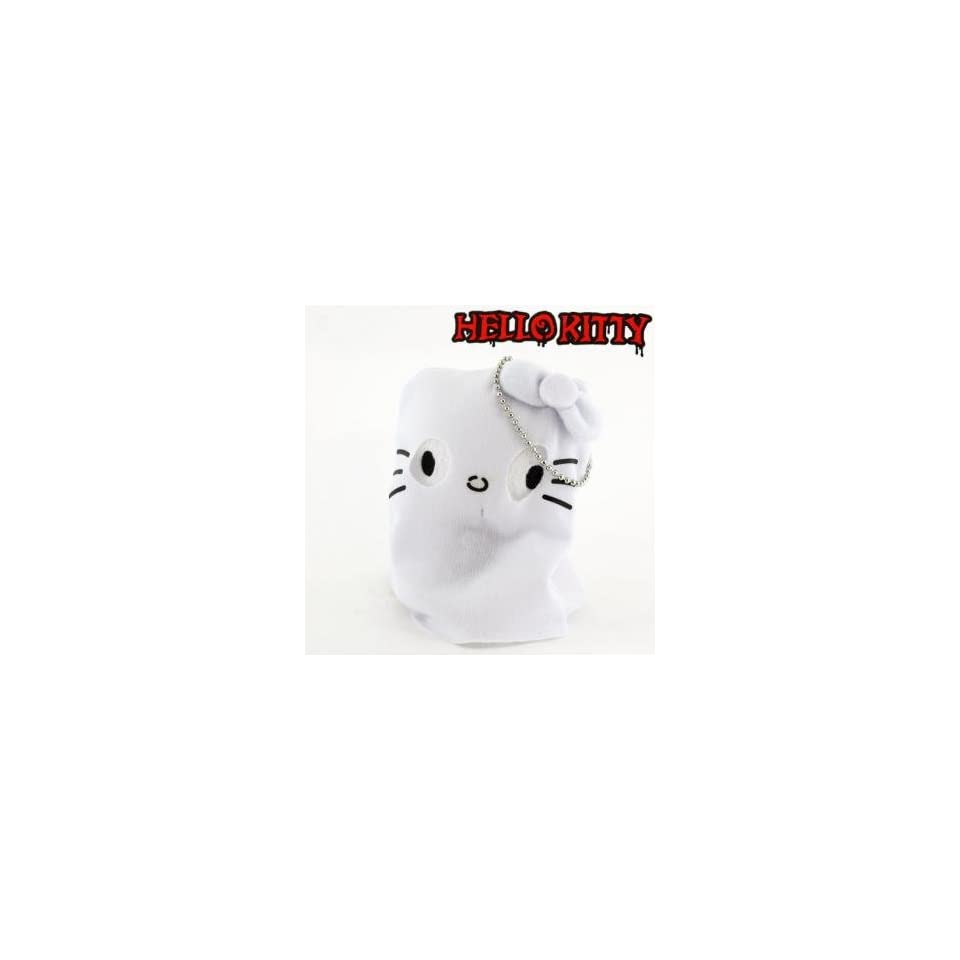 Sanrio Hello Kitty Monster Collection Plush Doll Ball Chain (Ghost)