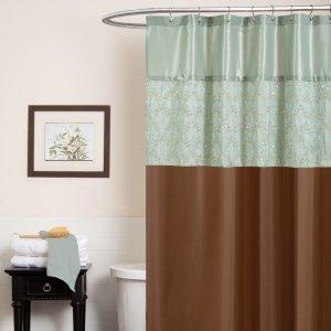 Angelica aqua shower curtain - Anna s linens bathroom accessories ...