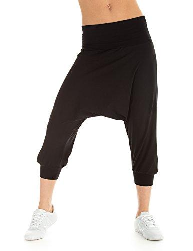 Winshape pantaloni sportivi da donna pantaloni danza Fitness Sport e tempo libero, Donna, Trainingshose Dance Fitness Freizeit Sport Haremshose, nero, S