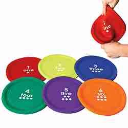 Soft Numbered Flying Discs Set of Six (Numbered Disks compare prices)