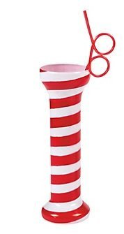 [Christmas Peppermint Glass with Straw] (Peppermint Costumes)