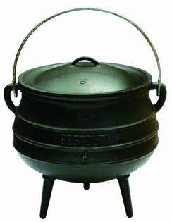 Best Duty Cast Iron Potjie Pot Size 6 - Include complementary Lid Lifter Knob ($9,95 value) (Cast Iron Potjie compare prices)
