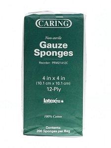 Medline Caring Woven Non-Sterile Gauze Sponges (GAUZE, SPONGE, 4