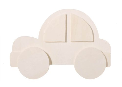 Darice 9189-12 Chunky Layered Wood Cutout, Car Shape, 10mm