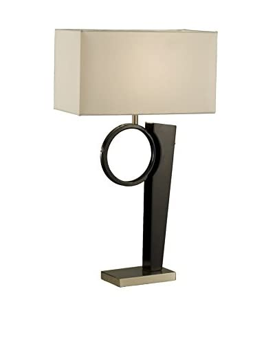 Nova Lighting Looking Glass Table Lamp, Dark Brown