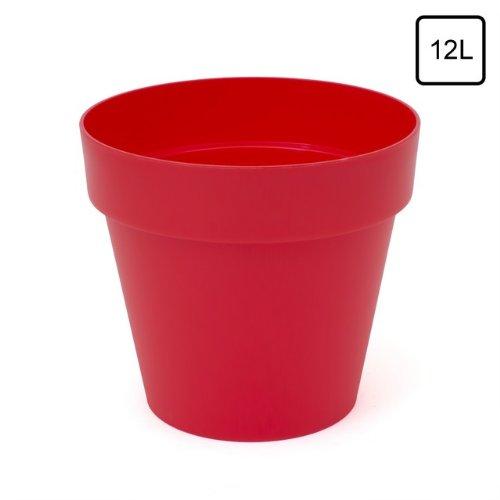 Preisvergleich 12 l blumentopf bertopf rot coral matt for Blumentopf rot
