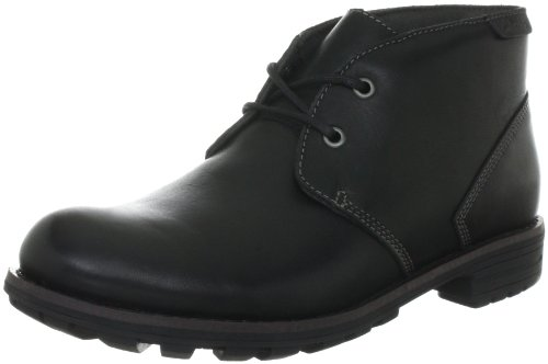 Clarks Midford Edge Boots Mens Black Schwarz (Black WLined Lea) Size: 8 (42 EU)