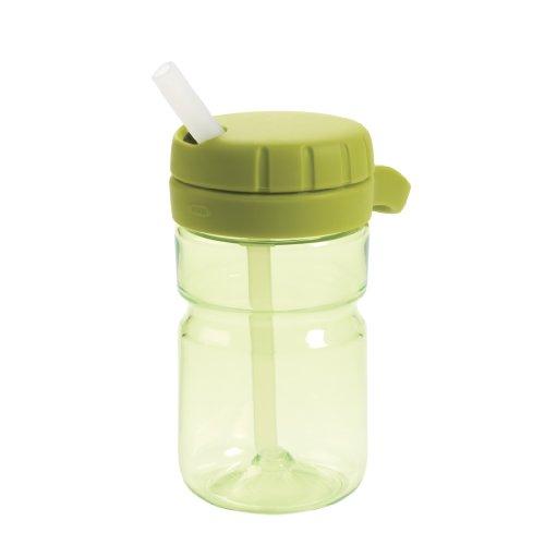 OXO Tot Twist Lid Water Bottle for Big Kids (12 Oz)- Green