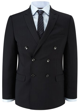 Austin Reed Slim-Fit Navy Herringbone Jacket REGULAR MENS 38