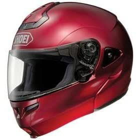 SHOEI MULTITEC FLIP-UP WINE RED SIZE:XLG MOTORCYCLE Full-Face-Helmet