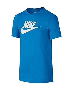Nike Camiseta Manga Corta Ctn Crew Fut Icon Td Yth (Azul)