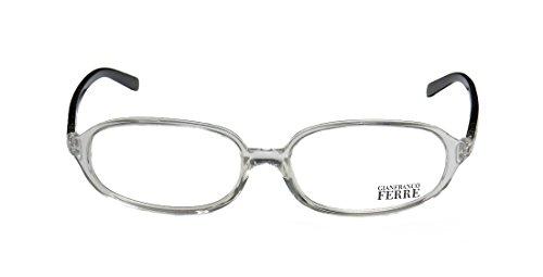 [Gianfranco Ferre 18601 Mens/Womens Prescription Ready Classic Design Designer Full-rim Spring Hinges Eyeglasses/Eye Glasses (53-16-135, Clear / Silver /] (Full Plastic Iron Man Costume For Sale)
