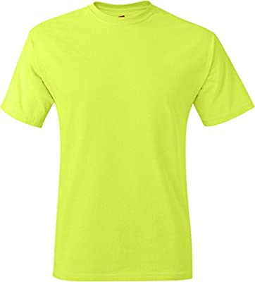 Hanes Men's Tagless T-Shirt - Safety Green - X-Large