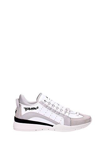 Sneakers Dsquared2 Herren Leder Weiß, Grau und Schwarz S16SN4047131062 Weiß 41.5EU thumbnail