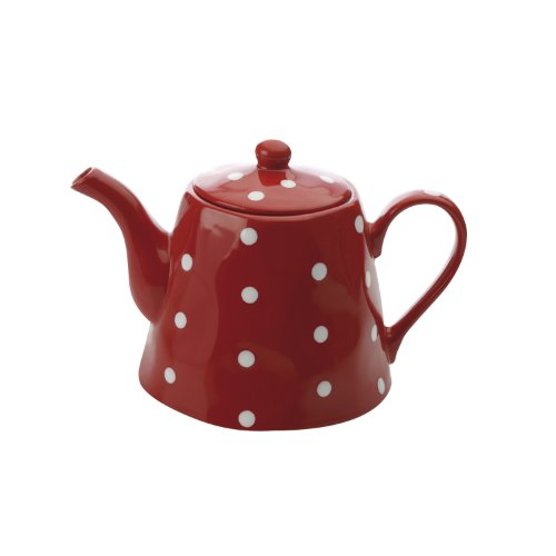 Red Polka Dot Teapot