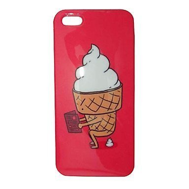 Cartoon Lovely Ice Cream Phone Case [Customizable by Buyers] [Create Your Own Phone Case] Slim Fitted Hard Protector Cover for iPhone 4 4s