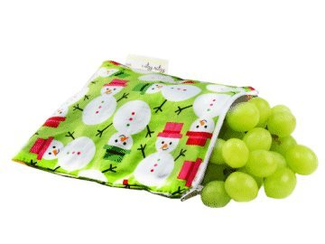 Itzy Ritzy Snack Happened Reusable Snack Bag, (Holiday Magic) back-240612