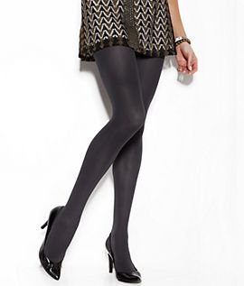 DKNY Opaque Control Top Tights, Small, Black