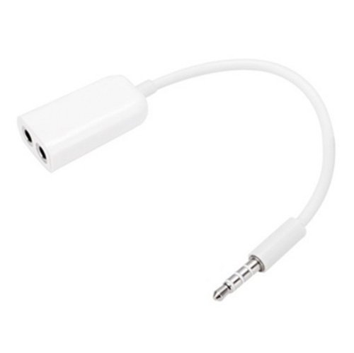 Finco 3.5Mm Stereo Audio Jack (Male) Splitter To Dual 3.5Mm Stereo Y Adapter (Female) For Samsung Galaxy S4 S Iv - White By Finco