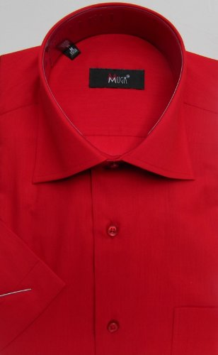 MUGA mens Shortsleeve shirts for Casual and Formal, Red, Size 3XL