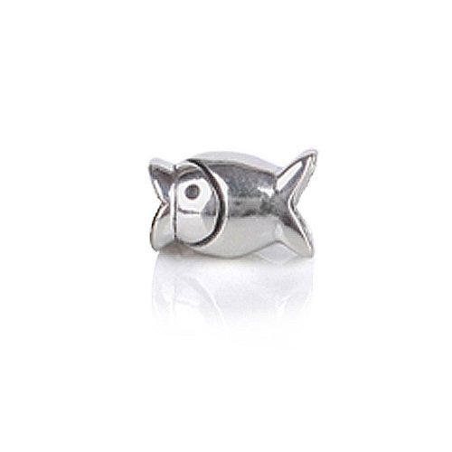 Bling Jewelry Fish Sterling Silver Animal Bead Fits Troll and Pandora Charms