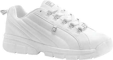Fila Men's Exchange 2K10 Sneaker,White/White/Metallic Silver,7 M US