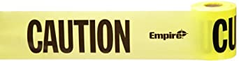 "Morris Products 69002 Barricade Tape, Printed With Caution Caution Caution, Yellow, 3"" Width, 200ft Length"