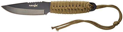 Survivor HK-106C Fixed Blade Knife with Fire Starter 8-Inch Overall