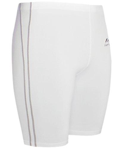 Emfraa Men Women Skin Tight Base Layer Running Compression White Shorts Xs ~ XL