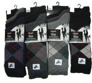 12 PAIRS MENS COTTON ARGYLE SOCKS / SIZE 6 - 11