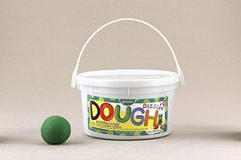 Dazzlin Dough Green 3 Lb Tub -- Case of 3