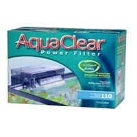 "AquaClear 110 Aquarium Power Filter 7.1"" length x 13.9"" width x 9.1"" height"
