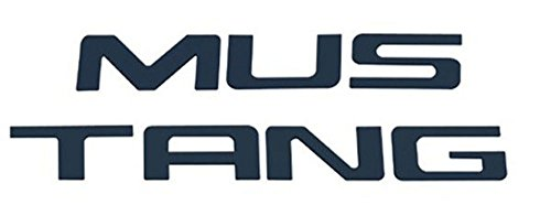 1999-04 Ford Mustang Black Stainless Steel Bumper Insert Letters (Bullitt Emblem compare prices)