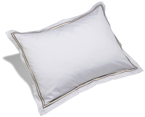 Check Out This Pinzon Hotel Stitch 400-Thread-Count Egyptian Cotton Sateen King Sham, White with Tau...