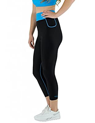 Delfin Spa Women's Bio Energy High Waisted Exercise Capris