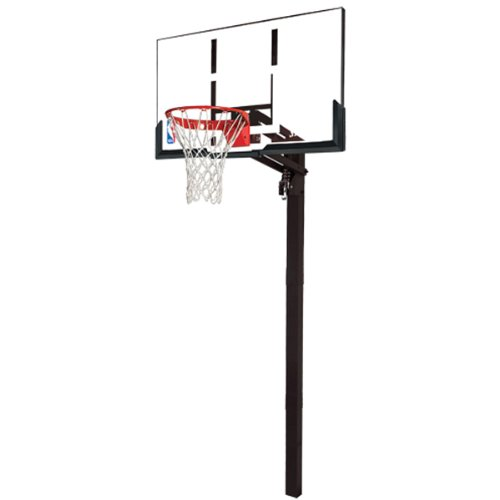 Review Spalding 54 Inch In Ground Basketball System With Acrylic