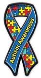 【アニマルズインク】 リボンマグネットバッジ『自閉症』Autism Awareness