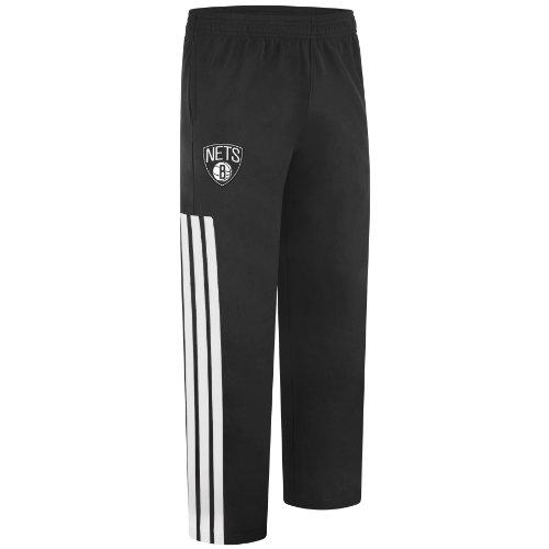 NBA Brooklyn Nets On-Court Warm Up Pant, XX-Large, Black and white adidas Pants autotags B0089O2WA0