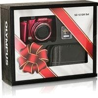 Olympus SZ-12 Digital Camera (Red) Gift Set Bundle With Case + PNY 4GB Memory Card