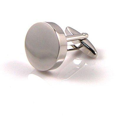 Round Engraved Cufflinks