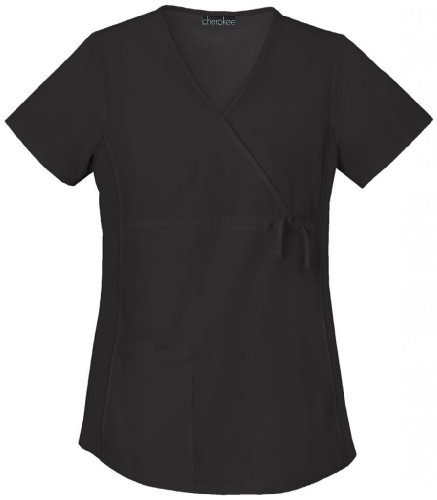 Maternity Wrap Scrub Top by Cherokee - Flexibles Collection