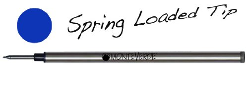 Monteverde G621BU Recharge pour stylo roller Bleu Lot de 2